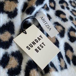 Brand new Cheetah sweater from Aritzia/Sunday best